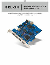 Genuine Belkin FireWire 800 and USB 2.0 PCI Express Card F5U602 CN-0R546C R546C