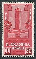 1931 REGNO ACCADEMIA NAVALE DI LIVORNO 20 CENT MH * - W263