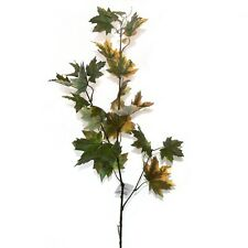 90cm Artificial Maple Leaf Branch - Green/Brown - Summer / Autumn Foliage