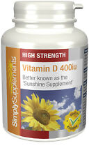 SimplySupplements Vitamina D 400iu 360 Compresse (E509)