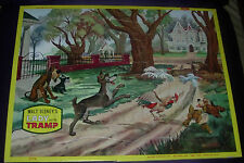 WALT DISNEY'S  LADY AND THE TRAMP  FRAME TRAY PUZZLE   WDP  JAYMAR  C. 1960