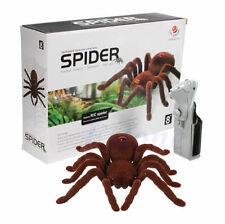 Remote Control Scary Creepy Soft Plush Spider Infrared RC Tarantula Kid Toy Gift