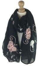 New Women Ladies Floral Embroidered Soft  Scarves Shawl  Large Pashmina Snood