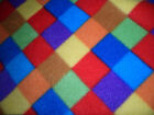 Polar fleece anti pill soft fabric harlequin print