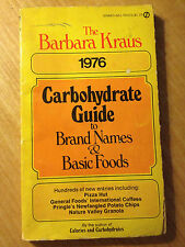 Carbohydrate Guide to Brand Names and Basic Foods by Barbara Kraus store#2873