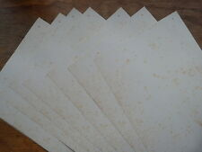 A3 ANTIQUE VINTAGE EFFECT plain paper 10 sheets single sided age-toned & foxed