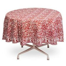 "Tag Artisan Red 100% Cotton 72"" Round Paisley Tablecloth"