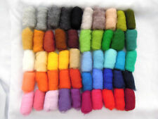 150 gr / 5.3 oz Sheep Wool Fiber for Needle Felting 50 colors set
