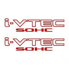 2x RED i-VTEC SOHC Vinyl Decal Stickers Emblem Honda Acura ivtec