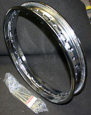 "18X2.15 Harley Davidson Drop Center Chrome Steel Rim & Spoke Kit 18"" 43031-70A"