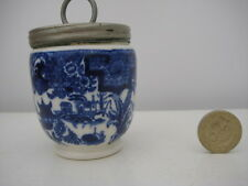 VERY RARE VINTAGE ROYAL WORCESTER  BLUE AND WHITE WILLOW PATTERN EGG CODDLER C