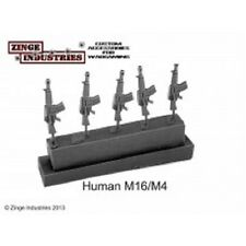 Zinge Industries infantería rifle humana M16/M4 conjunto de 5 armas S-GAR04 nuevo 28 mmscale