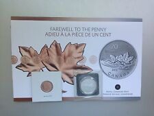 Canada 2012 $20 for $20 Fine Silver Coin - Farewell to the penny with Bonus