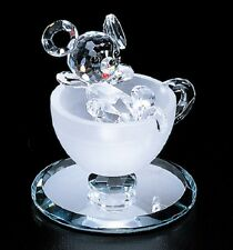 New Crystal World Coffee Break Mouse Miniature Figurine