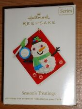 hallmark SEASON'S TREATINGS Christmas Ornament 2012 NIB Snowman Cake #4