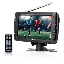 "Axess 7"" LCD TV with ATSC Tuner, Rechargeable Battery and USB/SD Inputs TV1703-7"