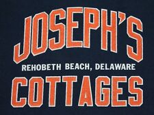 M * vtg 80s 1986 JOSEPHS COTTAGES Rehobeth Beach DELAWARE screen stars t shirt