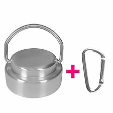 Stainless Steel Cap Lid Top for Hydro Flask with Flip Up Carry Handle Carabiner