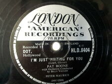 """78 rpm 10"""" PAT BOONE I'm just waiting for you / why bab"""