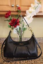 Coach 19761 Ashley Leather Convertible Hob Handbag Black (u700