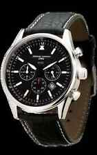 Jorg Gray JG6500 Obama commemorative edition Men's silver/black leather watch