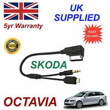 Skoda Octavia Audio Cable For Samsung Galaxy S2 S3 S4 S5 Micro & AUX 3.5mm Cable
