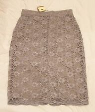 Oleana Laceskirt Lace Skirt Gray New with Tags Pencilskirt Pencil Size M