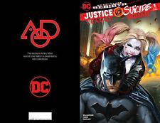 JUSTICE LEAGUE VS SUICIDE SQUAD #1 AOD COLLECTABLES WITTER COLOUR LIMITED COVER