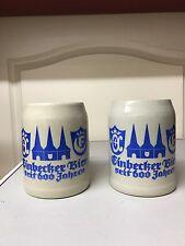 Einbecker Bierkrüge 0,5 L Steinkrug Zwei Stück