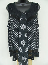 MAURICES Plus Size 3X STRETCH Top CROCHET LACE Shirt Blouse Cami Trendy Sexy NWT