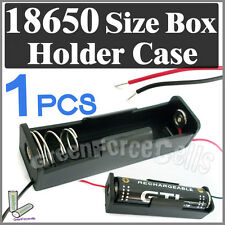 "1 x Battery Holder Case box for 1 18650 17650 Li-ion battery w/ 6"" Wire Lead"