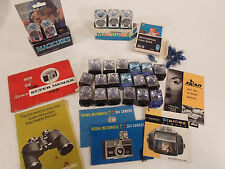 Photography Items, miscellaneous lot camera flash bulbs case magicubes ag-1b