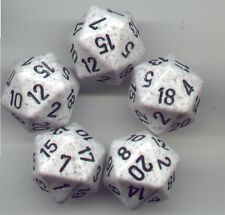 NEW RPG Dice Set of 5 D20 - Speckled Arctic