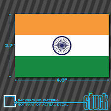 "India Flag -4""x 2.7""- vinyl decal sticker self adhesive country Indian IND IN"