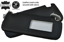 BLACK STITCH 2X SUN VISORS LEATHER COVERS FITS TOYOTA COROLLA 07-13 SALOON