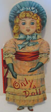 ANTIQUE REPLICA ONLY A DOLL DIE CUT STORY  BOOK MERRIMACK PUBLISHING