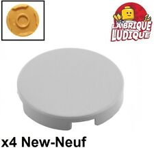 Lego - 4x Tile Round plaque rond lisse 2x2 gris/light bluish gray 14769 NEUF