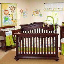 Congo Bongo  4 Piece  Crib Bedding Set by Nojo No Bumper - Jungle  Lion  Giraffe