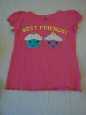 Okie Dokie Girls Tee Shirt Best Friends Cupcakes Short Sleeve  Size S4 New W Tag