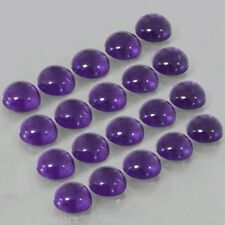 20 Pc WHOLESALE LOT OF 5x5mm ROUND CABOCHON NATURAL AFRICAN AMETHYST GEMSTONE