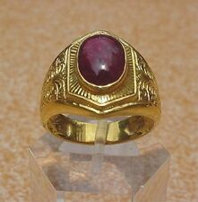 Men's 18K Solid Gold Ruby Ring