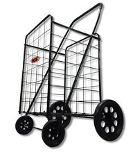 150 LB Folding Shopping Cart Basket Laundry Grocery 8001 BLK