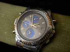 Used Men's Seiko Quartz Chronograph Sports 150 7T32 6C09 Stainless - not tested