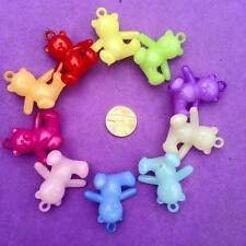 10 x Teddy Bear Charms, Key Rings, Jewellery, Crafts, Favours