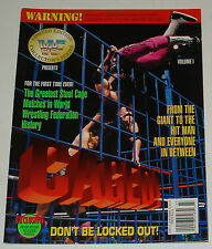 1994 wwe WWF magazine CAGED VOLUME 1 w/ POSTERS ~ Limited Ed. Collectors Series