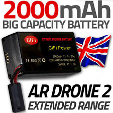 2000MaH Spare Upgrade Replacement Battery for Parrot AR Drone 2.0