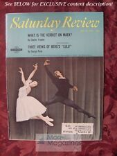 Saturday Review May 25 1968 BOLSHOI BALLET CHARLES FRANKEL GEORGE PERLE
