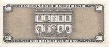 Peru - 500 Soles de Oro 16 de Mayo de 1972 aUNC - Pick 104b