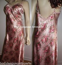 5X peachy pink floral SATIN LONG NIGHTGOWN LINGERIE PLUS SIZE 5X