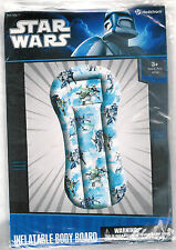 MARVEL STAR WARS INFLATABLE BODY BOARD / RAFT~POOL ~ AGES 3+ ~SUMMER FUN!  ~ NIP